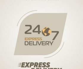 Express delivery poster template vectors design 02