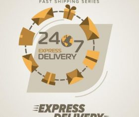 Express delivery poster template vectors design 03