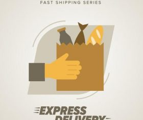 Express delivery poster template vectors design 04