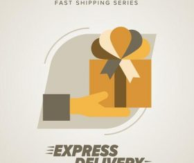 Express delivery poster template vectors design 05