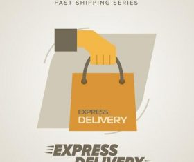 Express delivery poster template vectors design 06