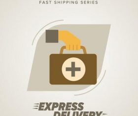 Express delivery poster template vectors design 07