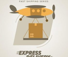 Express delivery poster template vectors design 08