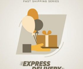 Express delivery poster template vectors design 09