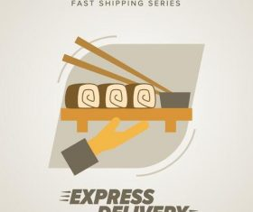 Express delivery poster template vectors design 10
