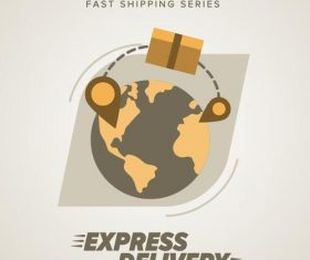 Express delivery poster template vectors design 11