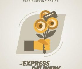Express delivery poster template vectors design 12