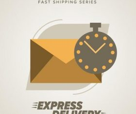 Express delivery poster template vectors design 13