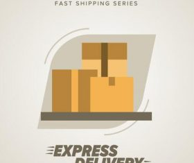 Express delivery poster template vectors design 14