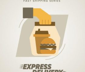 Express delivery poster template vectors design 15
