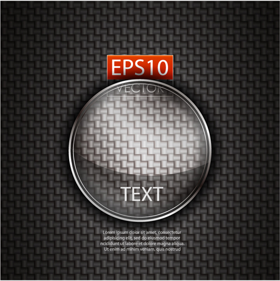 Fabric background and Magnifier vector graphic