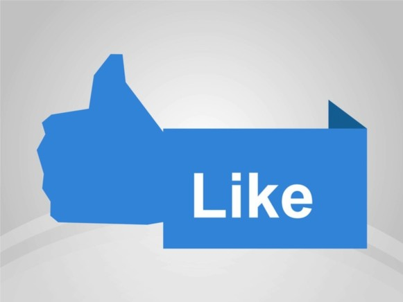 Facebook Like Banner Illustration vector
