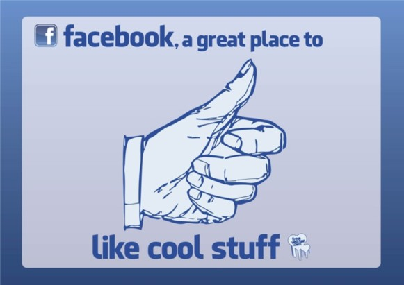 Facebook Like vector set