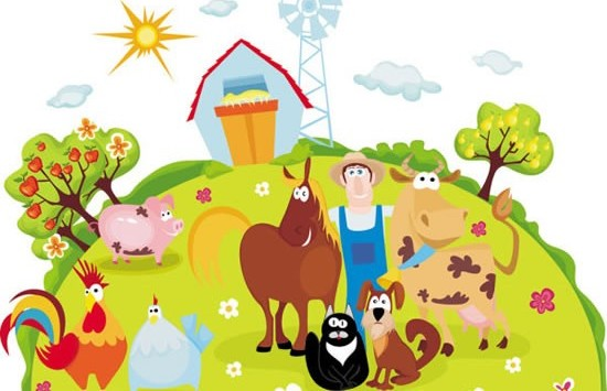 Farm animal cartoon vector