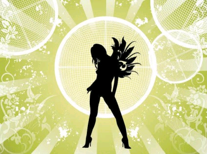 Fashion Girl Background Free vector