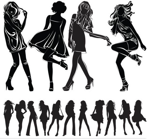 Fashion Girls graphic vector