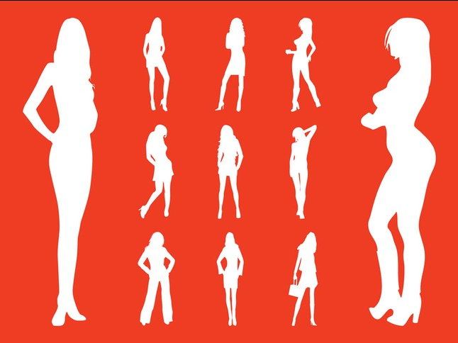 Fashion Models Silhouettes Vectors vector