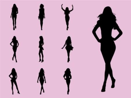 Fashion Models vector graphics