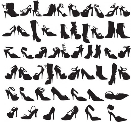 Fashion Shoes Silhouettes vector