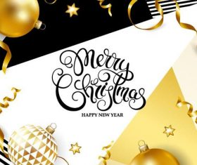 Fashion christmas with new year card vectors graphic