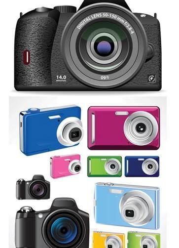 Fashion color camera vector graphics