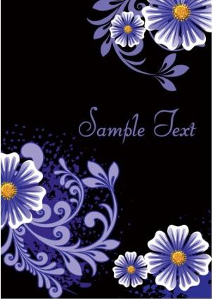 Fashion floral background 03 vectors graphics