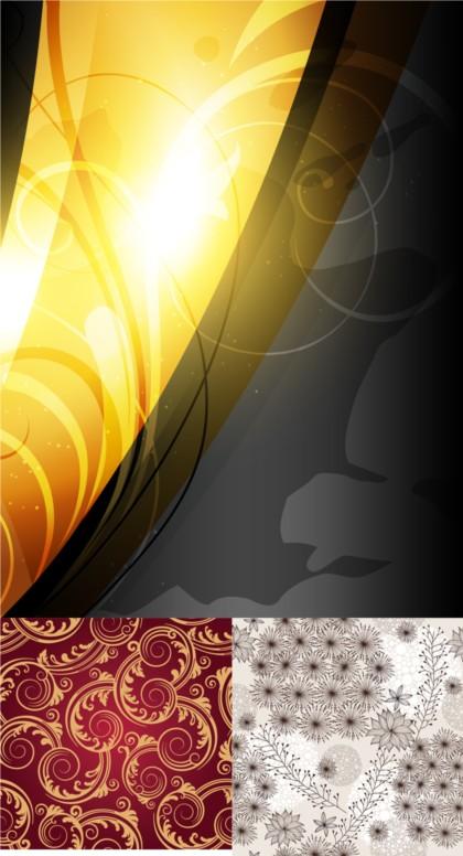 Fashion line pattern background vector