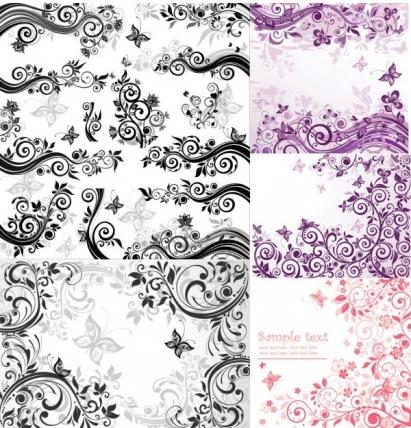 Fashion pattern vector set