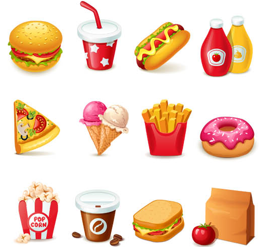 Fast Food free vector material