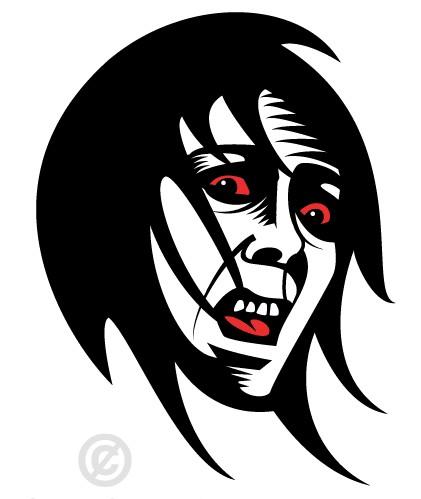 Fearful Face Clip Art vector design