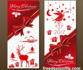 Festive red background with angel and jingle bells vector 02