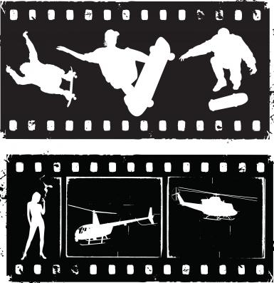 Film strip grunge Illustration vector