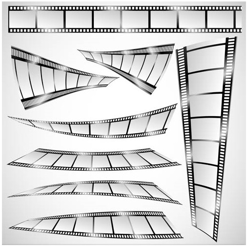 Filmstrip Elements graphic vector material