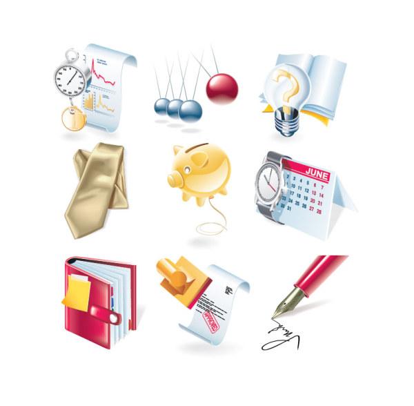 Financial icon set vector