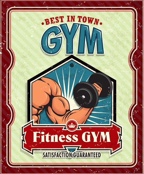 Fitness GYM poster vector