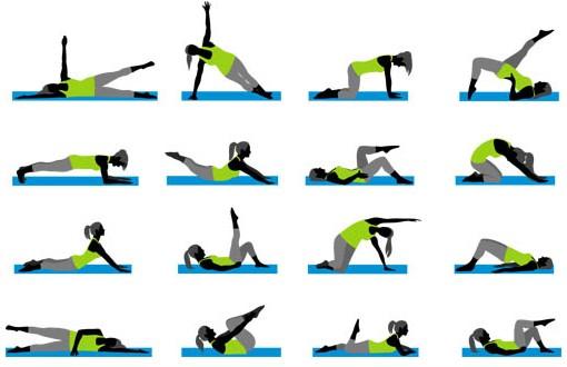 Fitness Symbols set vector