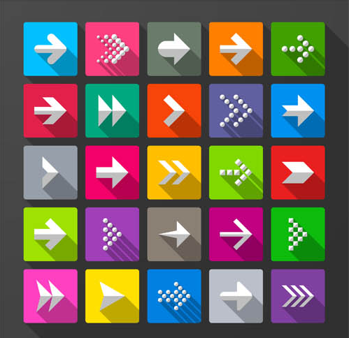 Flat Arrows Icons design vector