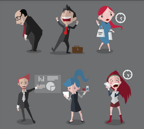 Flat Business People vector graphics