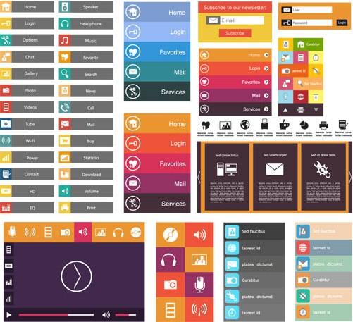 Flat Design Elements 9 vector