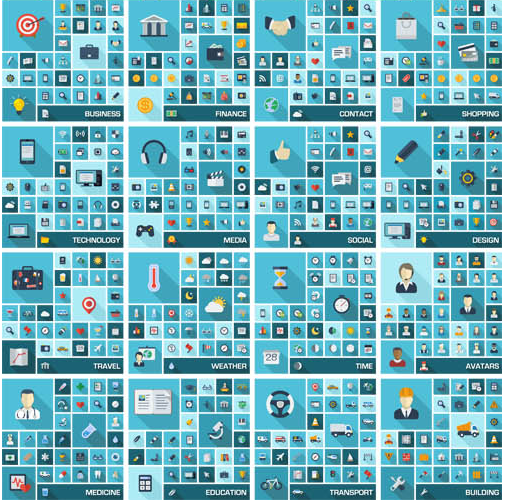 Flat Icons graphic 4 vector