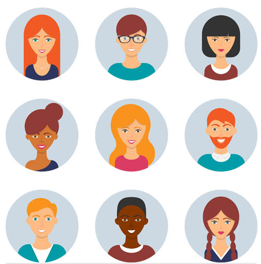 Flat People Avatars vector