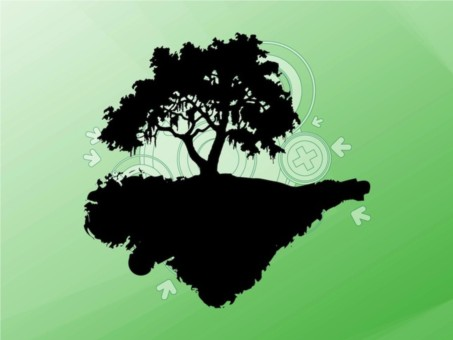 Floating Tree vector