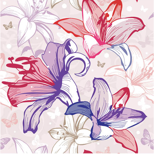 Floral Backgrounds Set 24 vector