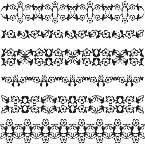 Floral Borders 4 vector graphic