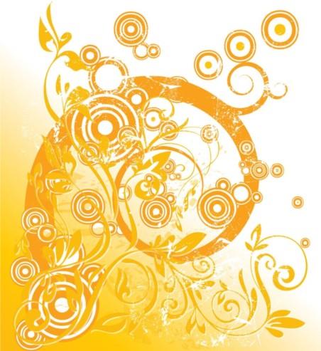 Floral Circle Graphics vectors graphics