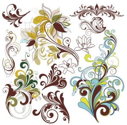 Floral Design Elements creative vector