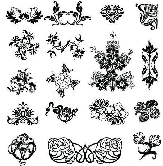 Floral Elements vector graphic