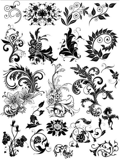 Floral Elements 2 vector