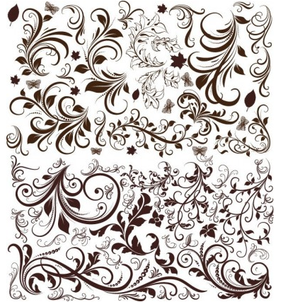 Floral Elements Free Vector