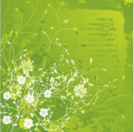 Floral Green vector set
